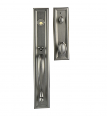 The Metropolitan – Tubular – European Pewter Entrance Handle Sets
