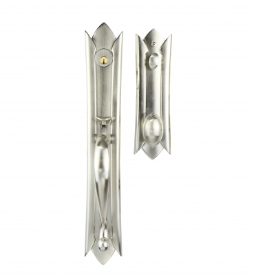 The Victorian – Tubular – Satin Nickel Entrance Handle Sets