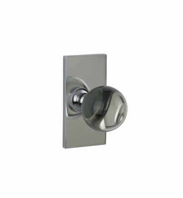 WSP-01 – Clear Opal Crystal – Contemporary Door Knob